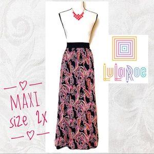 LuLaRoe   Lucy Full Length Chiffon Maxi Skirt